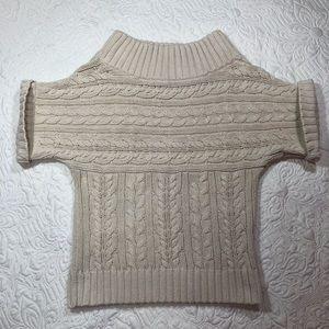 Express Cableknit Mock Turtleneck Sweater Sz XS